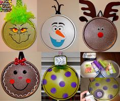 Pizza Pan Christmas Ornaments