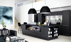 Escolha uma cozinha preto ~ Decoração e Ideias | casa e jardim