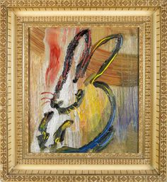 Primary Bunny | From a unique collection of paintings at http://www.1stdibs.com/art/paintings/