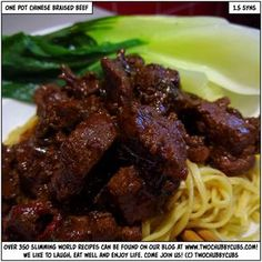 LIKE AND SHARE! You're going to love this recipe for one pot chinese braised beef. It tastes amazing. Actually amazing, and so low in syns! Plus, MORE travel stories! Remember, at we post a new Slimming World recipe nearly every day. Our aim is good food, Diced Beef Recipes, Quick Beef Recipes, Healthy Eating Recipes, Curry Recipes, Asian Recipes, Chinese Recipes, Chinese Food, Healthy Meals, Free Recipes