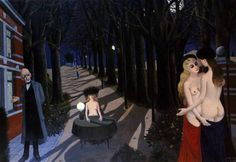 23 September 1897 – 20 July was a Belgian painter famous for his paintings of female nudes. He was influenced by the works of Giorgio de Chirico, and was also briefly associated with surrealism. Dali, Paul Delvaux, Future People, Tate Gallery, Rene Magritte, Magic Realism, Expo, Silent Night, Erotic Art