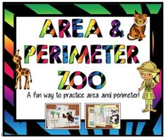 Area and Perimeter Zoo - great activity for practicing area and perimeter. So many extension ideas for this!