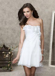 Abendkleider - $105.99 - Luxuriös A-Linie/Princess-Linie Schulterfrei Short/Mini Chiffon  Charmeuse Abendkleider mit Rüschen (017004367) http://jenjenhouse.com/de/pinterest-g4367