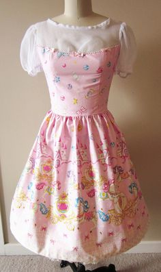 Sweet Lolita Pink Carousel Pony Dress OP. $150.00, via Etsy.