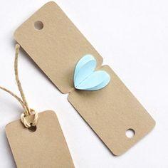 mini tarjetas con corazón