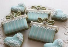gift box cookies by mint_lemonade Green Tea Cookies, Fancy Cookies, Sweet Cookies, Iced Cookies, Cute Cookies, Easter Cookies, Royal Icing Cookies, Birthday Cookies, Sugar Cookies