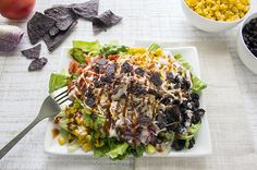 Recipe: BBQ Chicken Salad- 400 calories for cups- yummy summer salad lowcalorierecipes Clean Eating Recipes, Healthy Eating, Cooking Recipes, Healthy Recipes, Healthy Foods, Healthy Detox, Diabetic Recipes, Salad Recipes, Great Recipes