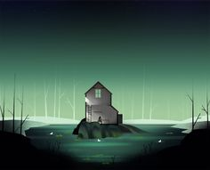Heather Penn's stunning background art for the 2014 Global Game Jam game Breadcrumbs.