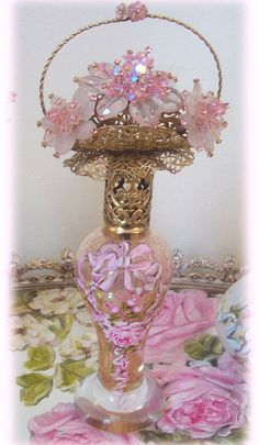 Gorgeous Blush Pink Glass Perfume bow