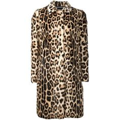 Marco Bologna leopard print coat (£4,510) ❤ liked on Polyvore featuring outerwear, coats, black, leather coats, real leather coats, genuine leather coat, patterned coat and leopard coat