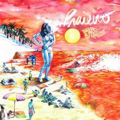 Capa do disco 'Praieiro' / Ilustração por Amandine Levy