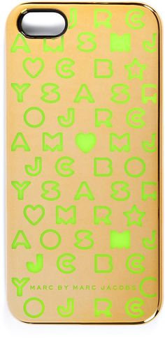 Marc By Marc Jacobs Gold Multi Iphone 5 Case in Gold - Lyst