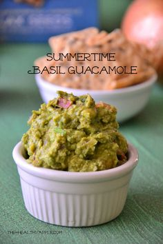 Different take on guac, with basil, tahini and sesame seeds.