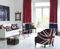 union jack curtains - Google Search