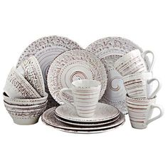 Elama Elama Malibu Sands Dinnerware Set in Shell at Lowe's. Experience a beachy dinner experience with this elegant dinnerware set. The Malibu Sands set features a beautiful hand paint work, laid on a sand embossed Casual Dinnerware Sets, Dinnerware Sets For 12, Stoneware Dinnerware Sets, White Dinnerware, Tableware, Dinnerware Ideas, Rustic Dinnerware, Tropical Dinnerware, Dinnerware Gifts