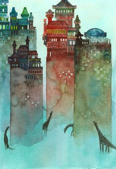 Hunters: Illustration by nokkasili on Deviantart #illustration #watercolor