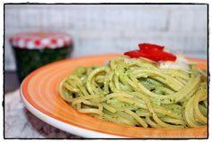 Spaghetti mit Bärlauchpesto brotbackliebeundmehr Foodblog