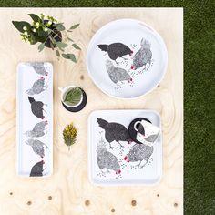 Kanaset trays and mug by Vilma Pellinen