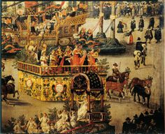 Parade float - Apollo and the Nine Muses