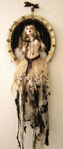 "Fantasy | Whimsical | Strange | Mythical | Creative | Creatures | Dolls | Sculptures | Ooak Art Doll Sculpture -""Seeking"". via Etsy."