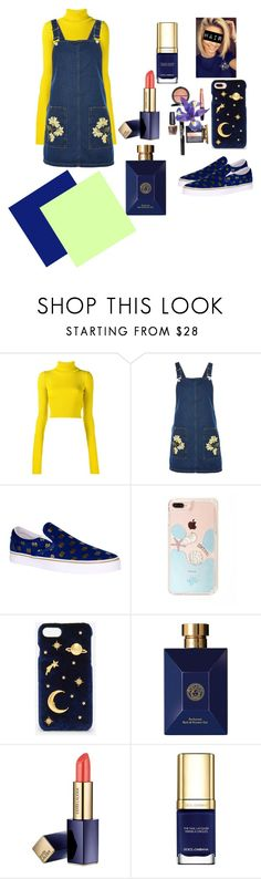 """field-inspired clothing"" by raissaabacorreia on Polyvore featuring moda, Jacquemus, Topshop, CHARLES & KEITH, Versace, Estée Lauder e Dolce&Gabbana"