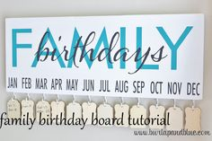 family birthday tutorial | handy that you don't have to restring a whole month when there's an addition to the family