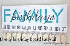 Family Birthday Board tutorial by burlap+blue