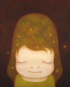 The little star dweller, 2006 acrylic and glitter on canvas 228.0 x 182.0cm