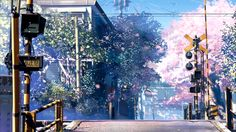 "this is one scene from animation ""Byousoku 5 cm."" from Comix Wave by Makoto Shinkai"