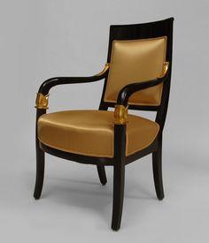 Biedermeier German  Austrian seating chair/arm chair-pair eboniz