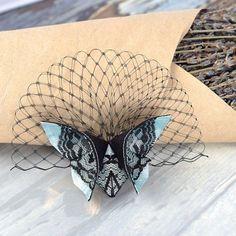 Бабочки из ткани в технике оригами