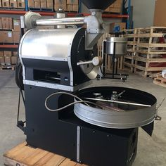 Old style Greek roaster at CRA about to go through our inhouse roaster refurb service . Watch this space ! #roasterporn #roasterrefurb