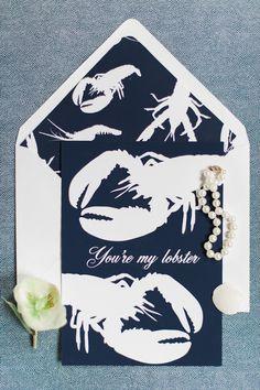 Lobster bake wedding invitation   Eileen Meny Photography