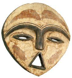 African mask - Kwele Tribe