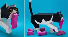 Cats and other Geometric Creatures of Estudio Paper Guardabosques (8)