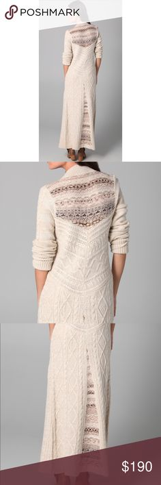 Free People Bobble Bee Maxi Cardigan Absolutely gorgeous cable knit maxi cardigan. Pristine condition. This is super hard to find & was originally $300. I'm not sure I want to sell because this is so so beautiful but I just never wear it. Reasonable offers considered but i'm in no rush to sell & if this doesn't I will just keep it 😊 (I can also post additional pictures if you are interested) Free People Sweaters Crew & Scoop Necks