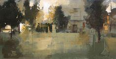 Plaza de Mina II - Óleo sobre lienzo (38 x 73 cm.)