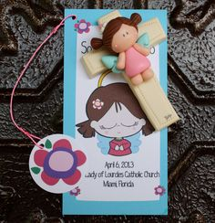 Bookmark and angel First Communion Baptism Baby Shower Favor. $12,00, via Etsy.