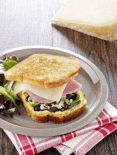 Recette Croque basque au Pur Brebis Pyrénées et jambon blanc