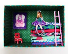 """I made this cute little box for my daughter Linda, who is in love with """"The Princess and the Pea"""" fairy tale. Could be the first of a series..."""