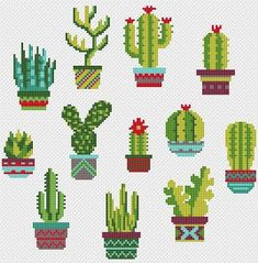 Cactus Cross Stitch Pattern Succulent Cross Stitch Funny Cactus Pots Mini Cactus Sampler Floral Cross Stitch Simple modern cross stitch PDF - Diy and craft Cross Stitching, Cross Stitch Embroidery, Embroidery Patterns, Hand Embroidery, Funny Embroidery, Advanced Embroidery, Sewing Patterns, Modern Cross Stitch, Cross Stitch Designs