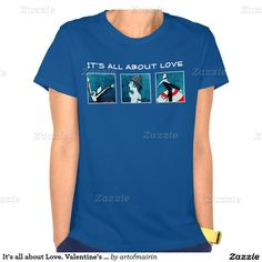 It's all about Love. Valentine's Day Art Deco design Gift T-Shirts and Sweatshirts. Fragments of the Art Deco vintage Magazine illustration, c.1920. Matching cards, postage stamps and other products available in the Holidays / Valentine's Day Category of the artofmairin store at zazzle.com
