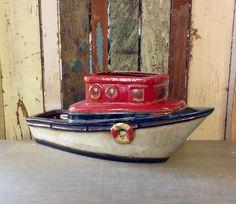 Ceramic Boat Planter
