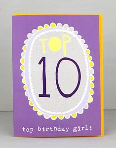 NEW 10th Birthday Cards For Girls by Molly Mae. I love this new range. You can also find the boys age range at Card Crush.