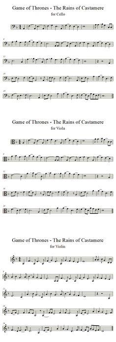 Rains of Castamere - GoT | Cello, Violin, Viola by averoxot.deviantart.com on @deviantART