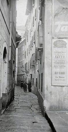 Rue de Trieste au début du XXe siècle