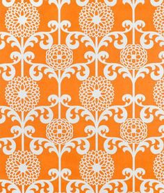 Amazon.com: Waverly Fun Floret Citrus Orange Fabric - by the Yard: Arts, Crafts & Sewing