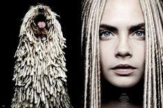 Cara Delevingne for Garage Magazine // #editorial #fashion #dog