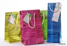 Como Fazer uma Sacola de Compras em Jornal | Passo a Passo – Recicla e Decora