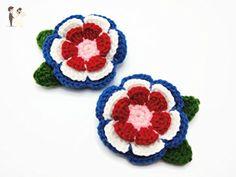 Hair Clip Flower Crochet Decorative Accessories Girl Deep Blue - Bridal fashion accessories (*Amazon Partner-Link)